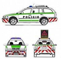 Návrh autora článku na hlídkový vůz dálniční policie, ještě v klasických barvách