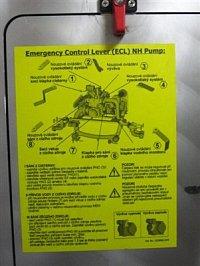 nouzové ruční ovládání čerpadla