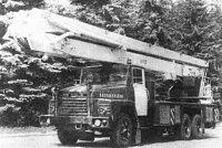 stará plošina Bronto 30/3 na podvozku KrAZ z roku 1985