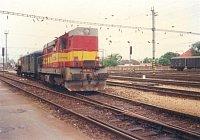 Požiarny vlak v stanici Trnava 13.6.1998
