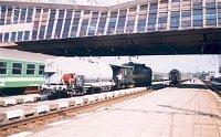 Požiarny vlak v stanici Poprad 15.8.1998