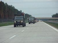 Přesun jednotek za doprovodu polských hasičů