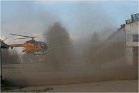 LIQUID 500 - zásah na hořící vnitřek budovy