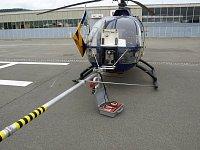 směrová hubice, za ní menší Turbo Jet