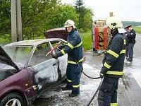 Požár auta v plným