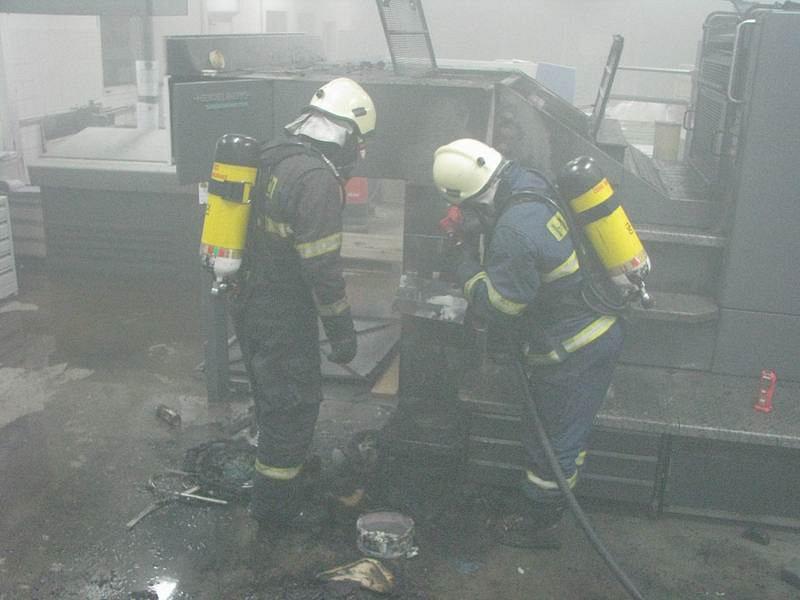Požár ve firmě Imprese