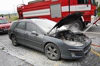 Požáry vozidel v Pardubickém kraji