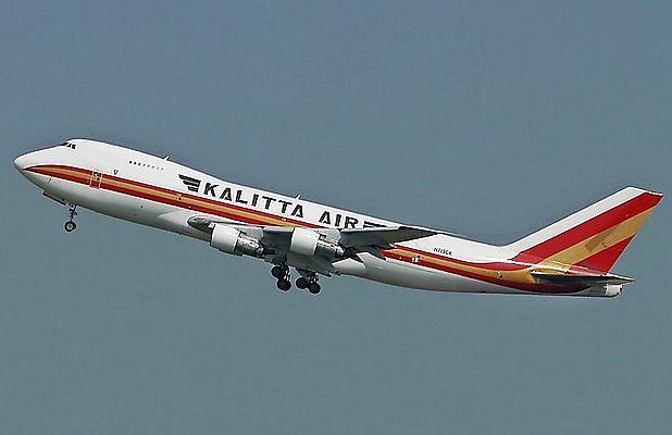 Boeing Kallita Air při úspěšném startu z Bruselu - archivní snímek