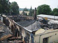 Noční požár zničil ubytovnu v Brně