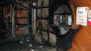 Požár dřevěného stánku