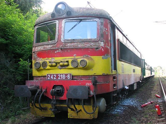 Požár lokomotivy Mileč