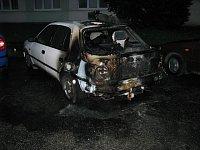 Požár osobního vozu