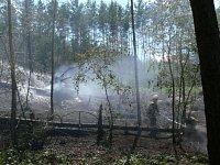 Lesní požár v Kutrovicích na Slánsku