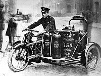 hasičský motocykl z roku 1924