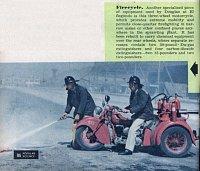 hasičská asistenční tříkolka při amerických závodech