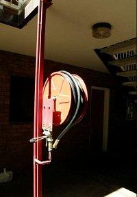 Jitka Eretová - hydrant v hotelu Toddys v Alici Springs