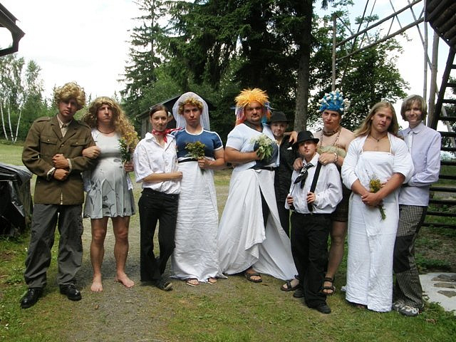 Společná svatební fotografie