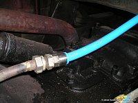 Rozvod vzduchu v plastových hadicích - větev od kompresoru