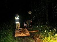 Příprava bobříka - železniční pžejezd na kopci u křížku