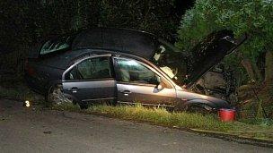 Ford skončil v příkopu