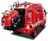 Zástavba v hasičském minitrucku pro zásahy v TOKIU
