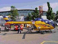 Hasičský vrtulník se zabudovanou TOHATSU V20D2S