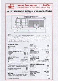 katalogový list Dennis Rapier THT Polička/Plastisol typ 3673