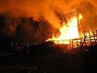 Požár stodoly - Klatovsko