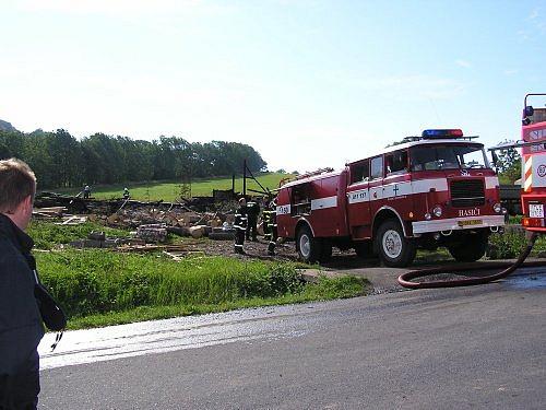 Požár stodoly Roudno