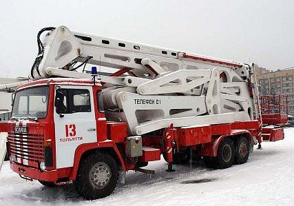 plošina Bono ALTIDRELR hasičů ruského Togliatti