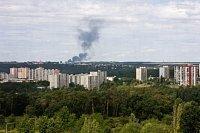požár viděný očima Libora Makrlíka z pražských Modřan