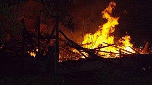 požár domku Kunčice