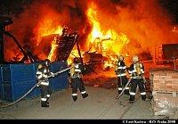 Požár na pražském nádraží
