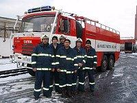 cvičení cukrovar Mělník - požární družstvo Mlazice