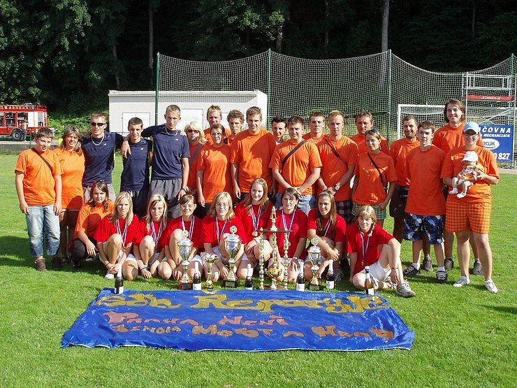 Vítězové soutěže dorostu Sdružení hasičů Čech, Moravy a Slezska – Trutnov 2008.