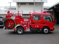 klasická japonská mini stříkačka, takové jsou na téměř každé tamní požární stanici - na různých podv