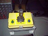 Přenosný ovládací panel střešní lafety, foto: HZSP DB