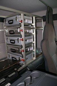 kufry s detekčními přístroji