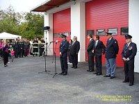 projev velitele kbelských hasičů Leoše Biskupa