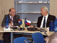 Ředitel Státního ředitelství pro ochranu a záchranu Chorvatské republiky Damir Trut a generální ředi