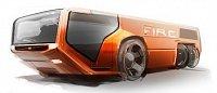 jen pro zajimavost designová studie letištního vozu Volvo - ta nepochází z hlav designérů asijské fi