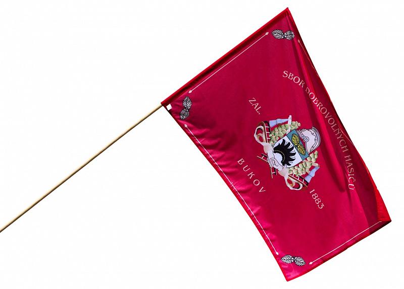 Venkovní hasičská vlajka se znakem sboru