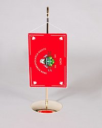 Hasičská stolní vlaječka - přesná kopie praporu sboru