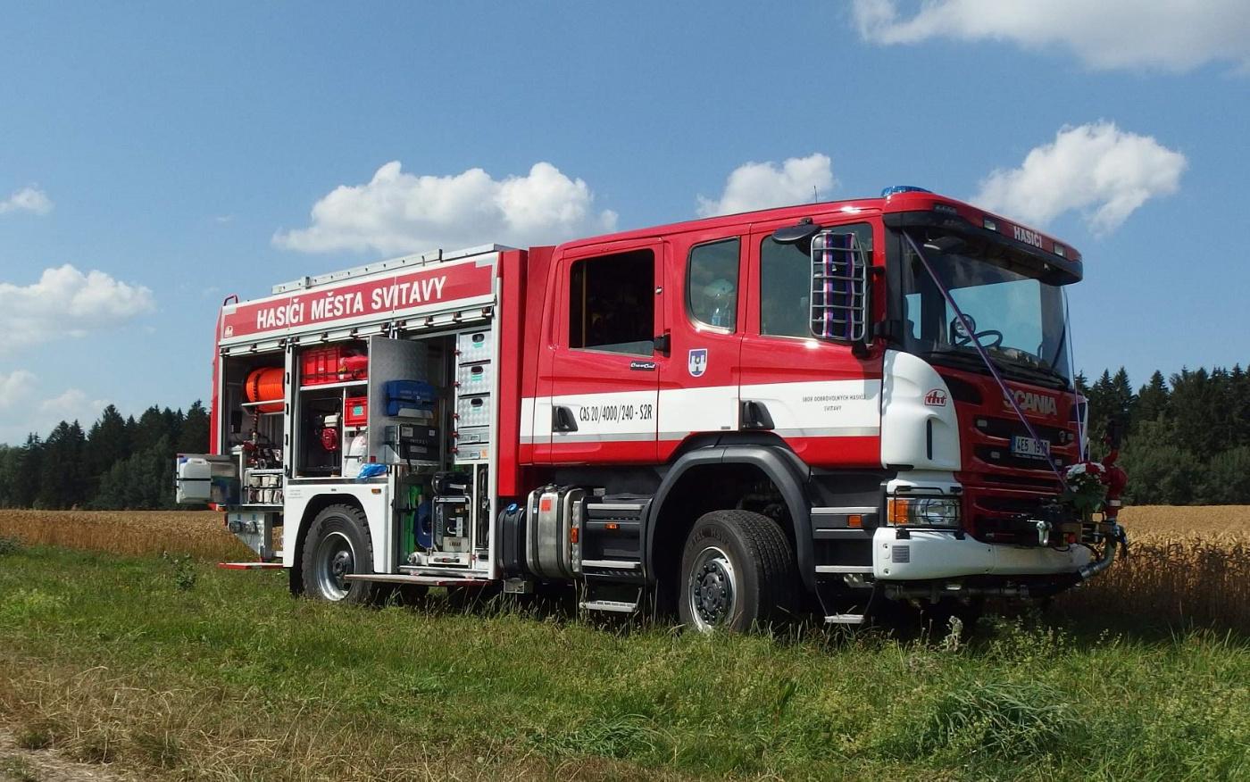 fc0b825ab1f Dobrovolná jednotka ve Svitavách má novou Scanii od THT díky Fondu ...