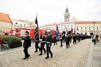 Slavnostní průvod ve Slavonicích uspořádalo SDH k oslavám 140. výročí vzniku.