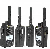 Motorola Mototrbo DM4601 s tlačítkovým mikrofonem