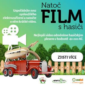 Banner Film s hasiči - recyklujte s hasiči