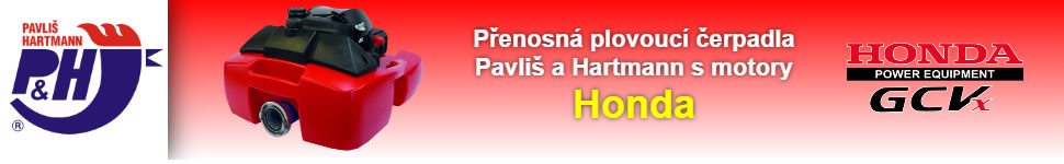 Banner Partner & VIP: Pavliš a Hartmann 970x150 Čerpadla