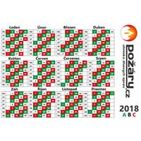 Kalendář POŽÁRY.cz 2018 - směnový do peněženky