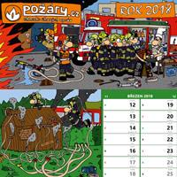 Kalendář POŽÁRY.cz 2018 - stolní s ilustracemi